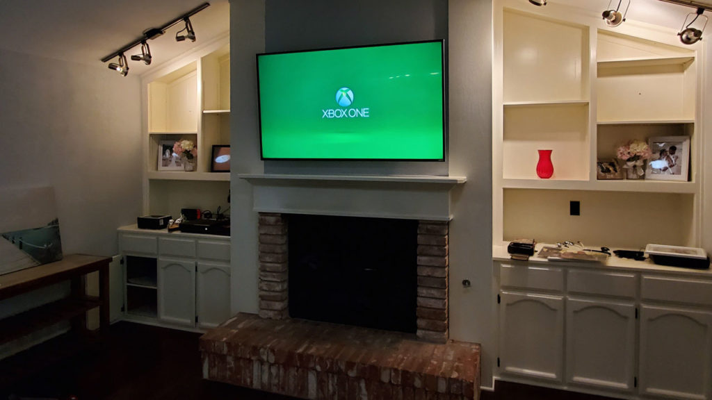 Image of custom TV installation.