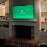Image of custom TV installation.